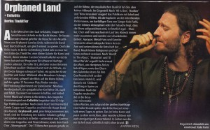 Orphaned Land_Metal Hammer_November issue