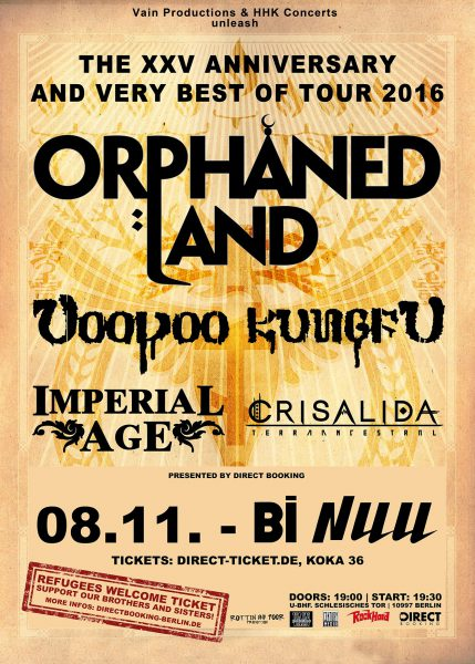 Orphaned Land in Berlin 08.11.16