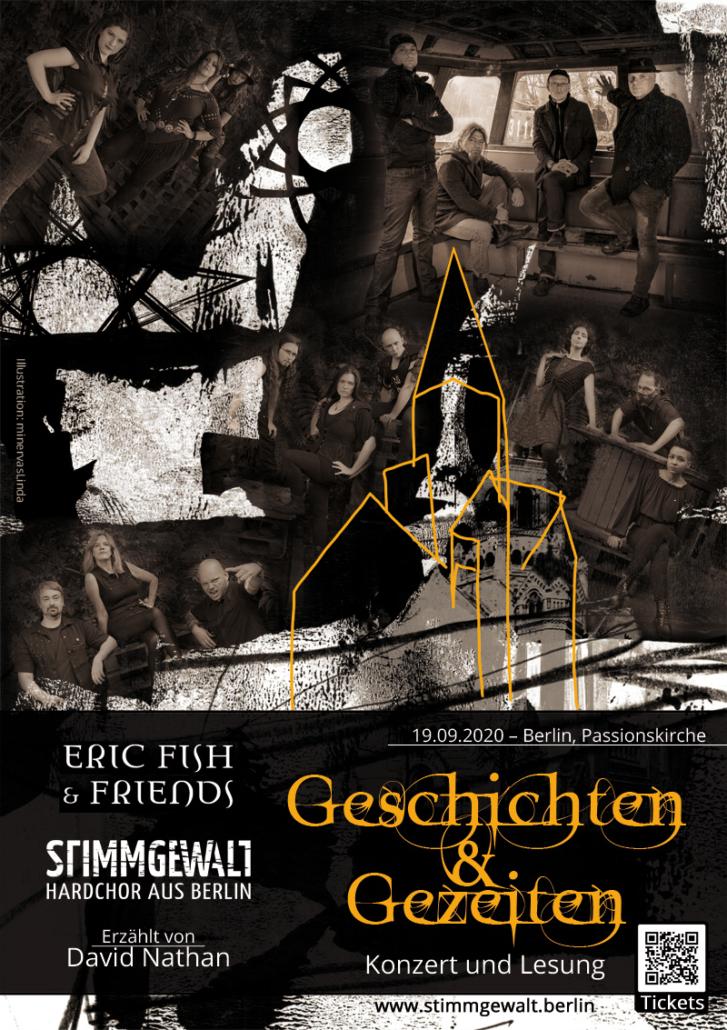 Konzert am 19.09.2020 mit Stimmgewalt, Eric Fish & Friends und David Nathan in der Passionskirche Berlin